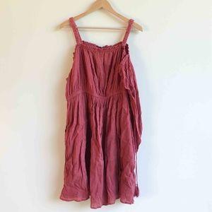 Lane Bryant Rose Pink Cold Shoulder Tasseled Dress